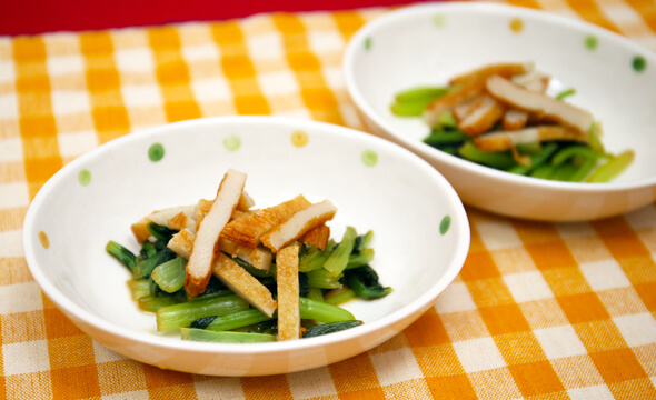 小松菜のポン酢和え